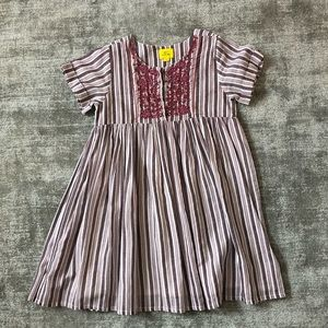 Beautiful girls dress with detailed embroidery